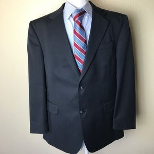 David Taylor Black two button blazer